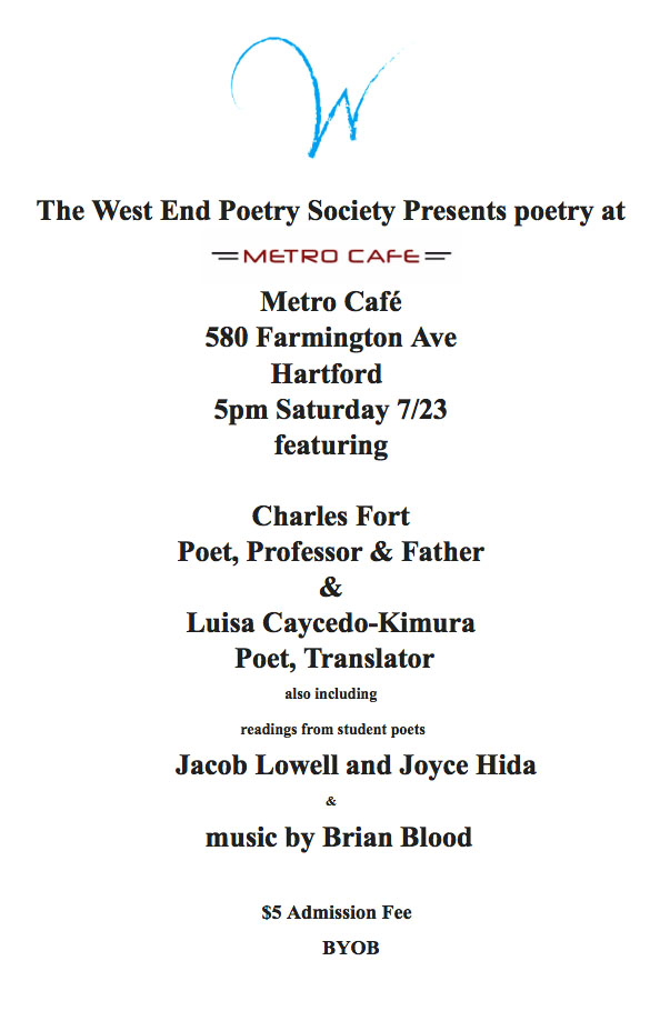 West End Poetry Society Announcement