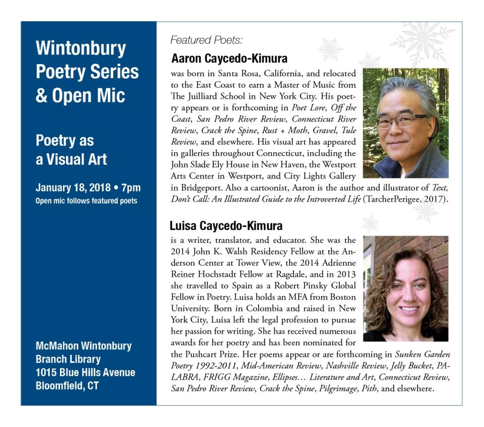 Poetry Reading Announcement-Wintonbury